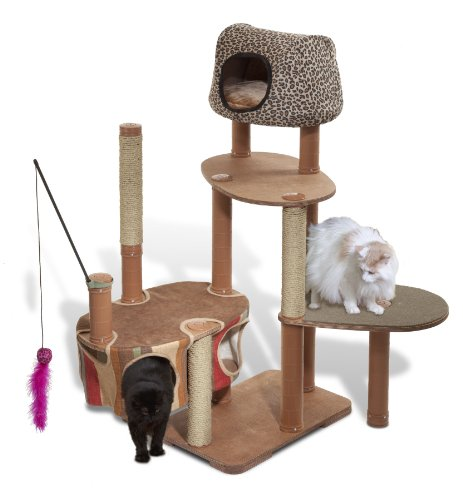 Large Cat Climbing Towers