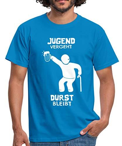 Jugend Vergeht Durst Bleibt Bier Spruch Männer T-Shirt, XL, Royalblau