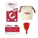 Copa Menstrual Sileu Cup Classic - Alternativa ecológica y natural a tampones y compresas - Bolsa de regalo - Talla S, Rojo
