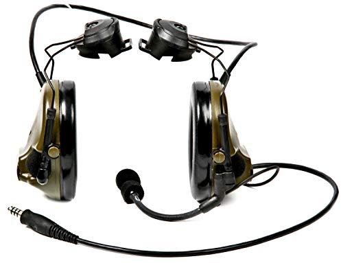 """3M PELTOR COMTAC 93481 PELTORCOMTACIII MT17H682P3AD-47 GN ACH Communications Headset, Single COMM, Accessory Rail Connector, 4.75"""" Height, 7.88"""" Length, 5.63"""" Width, O.D Green"""