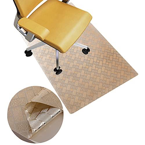 Stuhl Unterlagen Teppich Tappetini per Ufficio per Tappeti Tappetino in PVC in Plastica Tappetino per Pavimenti per Tappeti A Basso Contenuto Medio E Pavimento Duro(Size:85×135cm/2.8×4.4ft,Color:B)