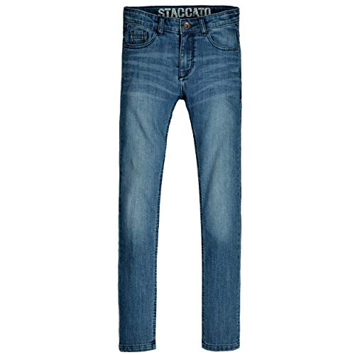 Staccato Jungen Jeans Leon - Regular Fit - Skinny Stretch - Blue Denim - 5-Pocket-Style - Casual Größe 128