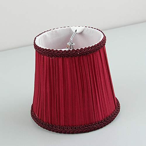 Elegante y fácil de Instalar Pantalla Vino Tinto Color de la Tela Cortinas de la lámpara, Pantalla Decorativa (Body Color : 12 Pieces)