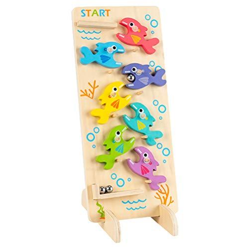 TOYMYTOY Juego de Laberinto 3D Juguete de Madera Juego de Pesca Juguetes Rompecabezas Cerebro Rompecabezas Montessori Desafío de Inteligencia Juguete Educativo Temprano para Niños Adultos