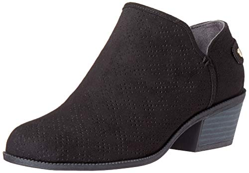 Dr. Scholl's Shoes Women's Bandit Ankle Boot, Black Microfiber Perforated, 9.5 M US