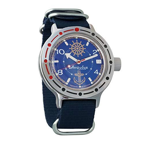 Vostok Amphibian Orologio da polso automatico da uomo, a carica automatica, orologio da polso militare subacqueo anfibio #420374