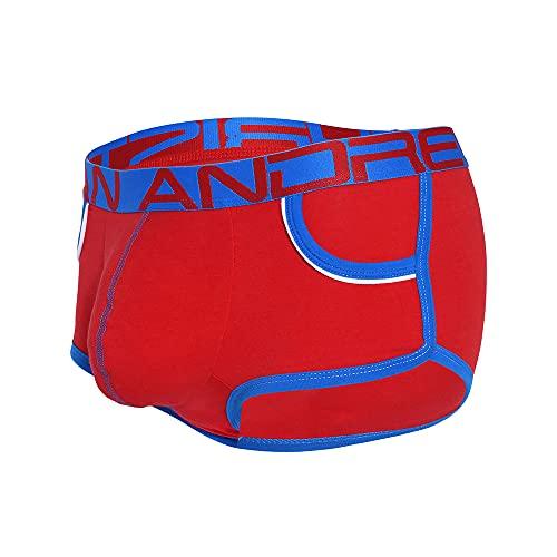 Andrew Christian Show-It Retro Pop Pocket Boxer Rot - Größe L