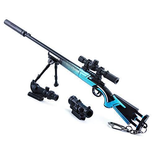 DJIEYU 1/4 escala militar militar miniatura M24 SWS rifle de francotirador pistolas de metal modelo pistola figura accesorios de juguete llavero Die Cast decoración juguetes