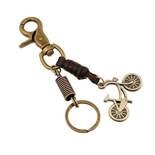 Metall Schlüsselanhänger Herren Retro Leder Legierung Fahrrad Anhänger Mädchen Rucksack Anhänger Auto Schlüsselanhänger Ornamente Exquisite Mode Schlüsselbund Organizer Damen Schlüsselring