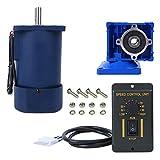 Aoutecen Controlador de Velocidad 220VAC 90W Engranaje helicoidal 5IK90RGN-RV30 Motor de reducción para Manualidades para Soportes de exhibición(Reduction Ratio 5k, Pink)