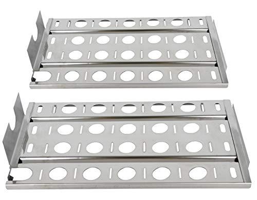GasSaf Heat Plate for Lynx CS30 L27 L30 L30PSP L30APSFR L36 L42 L54 LBQ27FR Gas Grill 2Pack 16 7/8quot Stainless Steel Briquette Tray16 7/8quot x 9 1/2quotSet of 2
