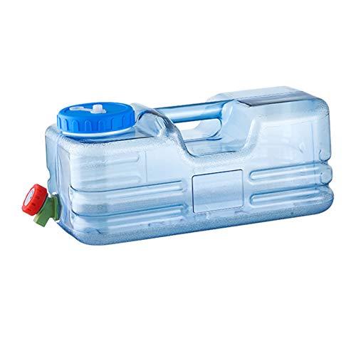 CHAMAIR Bidón de agua, contenedor de agua, cubo portátil, capacidad de 10 L, para exterior, recipiente de agua portátil con grifo, para picnic, senderismo, 15,7 x 7,87 x 7,08 pulgadas