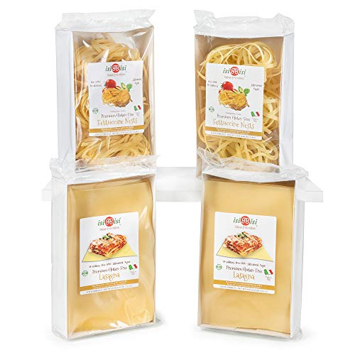 isiBisi Gluten Free Pasta Sampler - Made with Rice and Corn Flour - Quality, Authentic Gluten Free Noodles - Vegan, Non-GMO Bulk Pasta - Made in Italy (55 oz (Pack of 4))