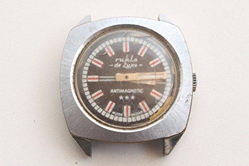 Unbekannt Bellissimo Orologio da Polso Ruhla de Luxe Made in GDR con datario Vintage 1970 70s