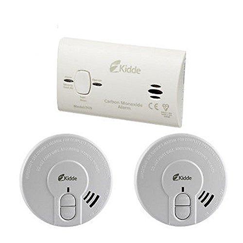 Kidde CO3SA Premium Alarm Safety Pack - 1 Carbon Monoxide and 2 x Smoke...