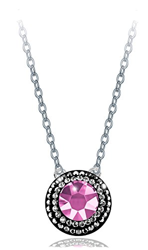 PAPOLY®, Pendientes y collar DOBLE línea de cristal GENUINE CZECH CRYSTAL® 0.33in/8,5mm PLATA DE LEY 925
