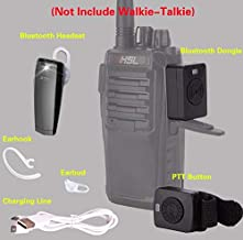 Pegcdu Reemplazo de walkie Talkie Wireless Headset Auriculares Bluetooth Radio de Dos vías del Auricular del Auricular para Baofeng 888S UV5R