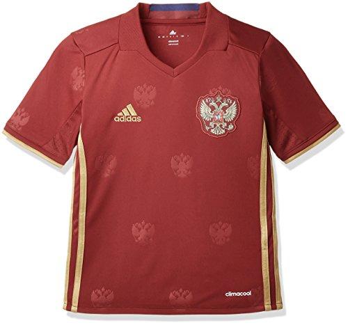 adidas Jungen T-shirt RFU H Jersey Y Kurzarm Heimtrikot, Collegiate Burgundy/Dark Football Gold, 140