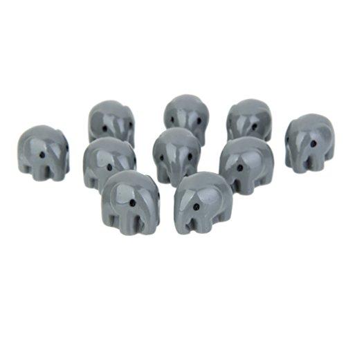 10pcs Eléphant Gris Miniature Décoration pour Micro Paysage Bonsaï DIY