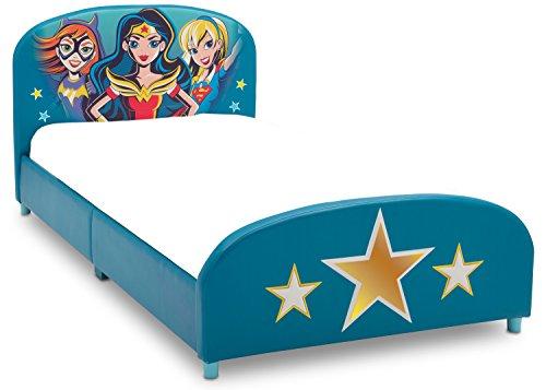 Delta Children Upholstered Twin Bed, DC Super Hero Girls