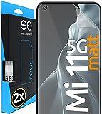 smart engineered [2 STK.] Entspiegelte 3D Schutzfolie kompatibel mit Xiaomi Mi 11 5G, hüllenfre&liche Matte Bildschirmschutz-Folie, Schutz vor Dreck & Kratzern, Alt. Panzerglas