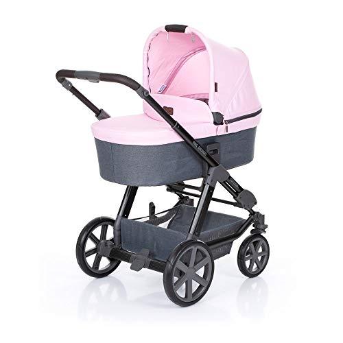 ABC Design Kombikinderwagen Condor 4 Rose - Kinderwagen Set mit Babywanne & Sportwagen - Rosa