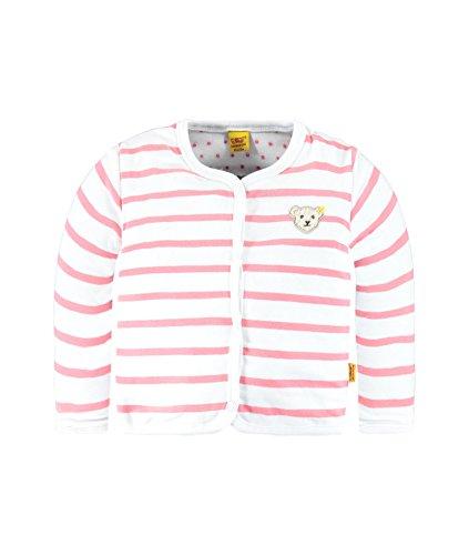 Steiff Wendejacke 1/1 Arm Sweat-Shirt, Rose-Rosa (Tea Rose 2083), 6 Mois Fille
