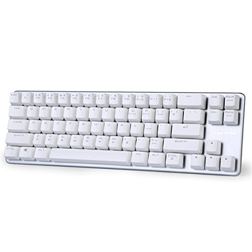 Mechanical Keyboard Gaming Keyboard Brown Switch 68-Keys Mini Design (60%) Gaming Wired Keyboard White Magicforce by Qisan (Personal Computers)