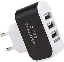 Eroihe Cargador Móvil con 3 Puertos USB Cargador de Pared Adaptador de Carga de Teléfono Móvil Viajar Casa