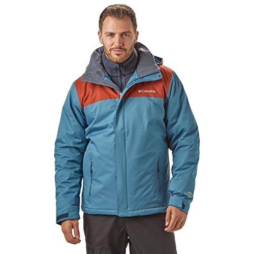 Columbia Everett Mountain Veste Homme, Blue Heron/Rusty, S