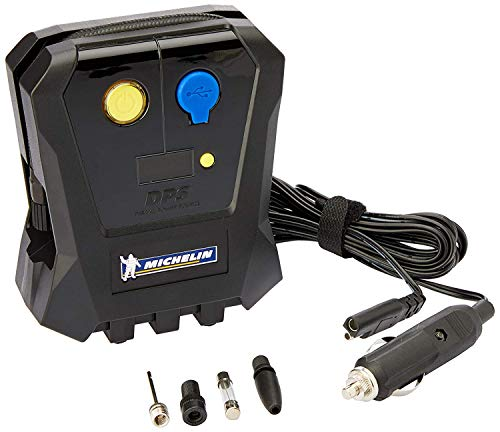 Michelin Compact Digital Tyre Inflator Micro 12 Volt Compressor with Digital Gauge Accuracy from +/- 1 PSI up to 50 PSI (12264)