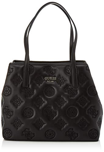 Guess Vikky Tote, Handbag Donna, Nero, Taglia unica