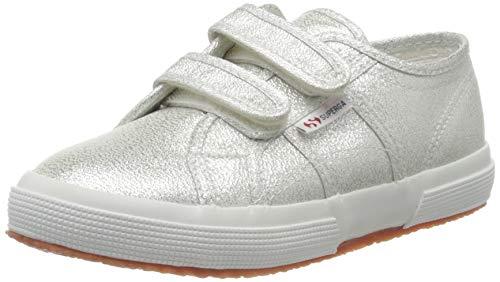 SUPERGA 2750-LAMESTRAPJ, Sneaker Unisex Bambini, Argento (Grey Silver 031), 27 EU