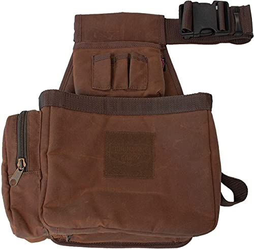Birchwood Casey Shell Bag with Belt - Brown Waxed Canvas, Model:BC-06812