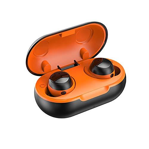 BoBoLily, TWS-22 - Auriculares inalámbricos magnéticos con micrófono (naranja)