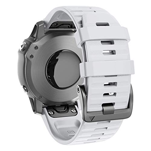 ZHONGGOZZ 22 26mm Strap de liberación rápida para Garmin Fenix 6 6X 5X 5 3 3 Horas S60 MK1 Forerunner 935 945 Smart Watch Band Strap Wirstband (Color : White, Size : Forerunner 935 945)