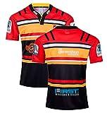 MRRTIME Bordado Rugby Jersey, 19-20 Jefes de Nueva Zelanda Hogar y alejado Camiseta de Manga Corta Polo Rugby Ropa Traje de Entrenamiento, Fans de Rugby Deportes Casual Rugb Memorial Edition-2XL