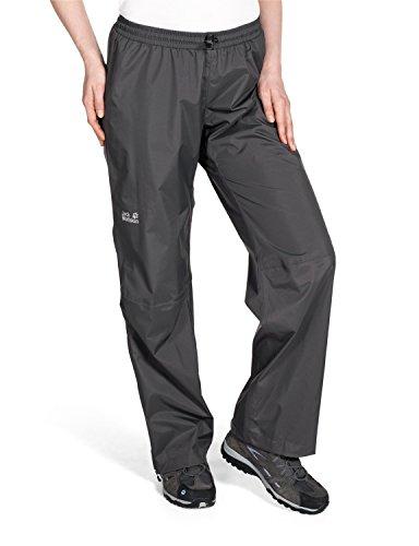 Jack Wolfskin Damen Wetterschutzhose Cloudburst Pants Women, Dark Steel, XS