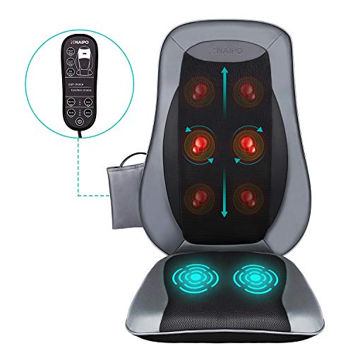 Naipo Shiatsu Back Massager Massage Chair Seat...