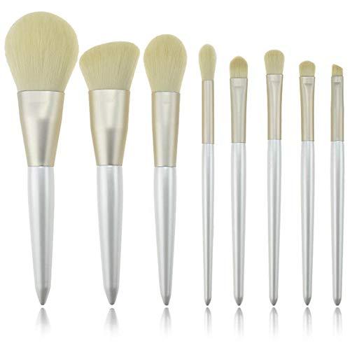 8 PCS synthétiques Bamboo Blush Foundation Ombre à paupières Eye-liner Bronzer Pinceaux de Maquillage Brosse à maquillage XXYHYQ (Color : 01, Size : Libre)