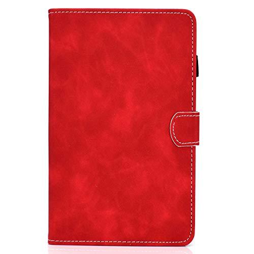 zl one - Carcasa para tablet Lenovo Tab M10 Plus (piel sintética), color rojo