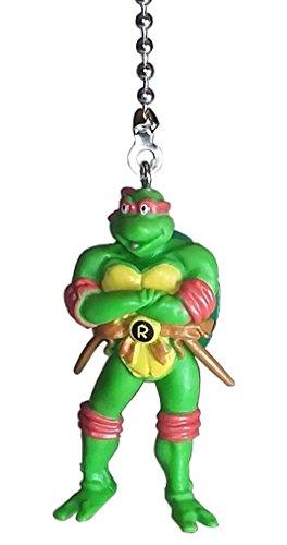 TMNT Teenage Mutant Ninja Turtles Ceiling Fan Pulls by Wooden Androyd Studio (Raphael Red)