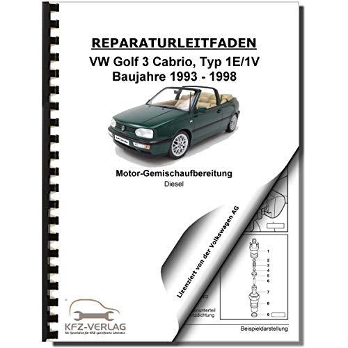 VW Golf 3 Cabrio 1E/1V Diesel-Direkteinspritz- Vorglühanlage Reparaturanleitung