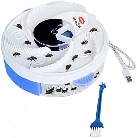 Yefun Automático USB Recargable Eléctrico atrapamoscas Flycatcher Pest Catcher Killer Repelente Bug...