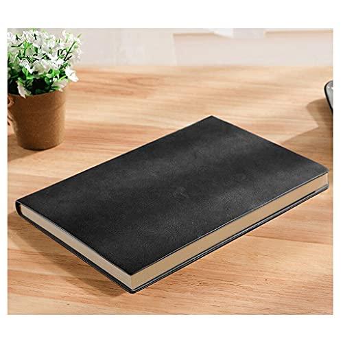 ZNZNN Sheepskin A5 Notebook Papelería Negocio Notebook Femenino Cumplimiento Cuaderno Cuaderno Simple Hand Ledbook Regalo Cuaderno Multifuncional (Color : Black)