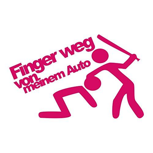 Folistick Finger Weg von Meinem Auto Aufkleber JDM OEM Tuning Autoaufkleber (PINK)