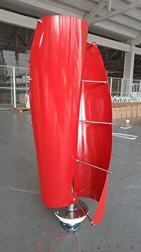 YUYUKUAILAI 300W 12V vertikale Windturbine Leicht und tragbar Windrad, robust und langlebig, geeignet für den Heimgebrauch, rot