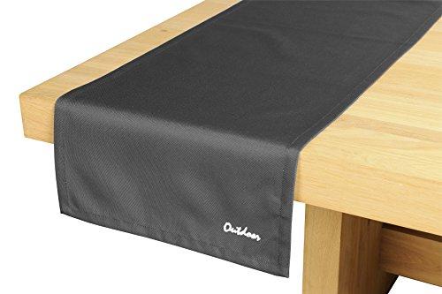 Outdoor Chemin de table 42 cm x 145 cm Linge de table Table de jardin saint tropez en graphite