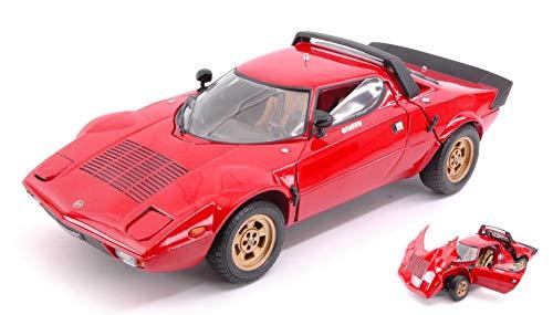 LANCIA STRATOS 1975 RED 1:18 - SunStar - Auto Stradali - Die Cast - Modellino
