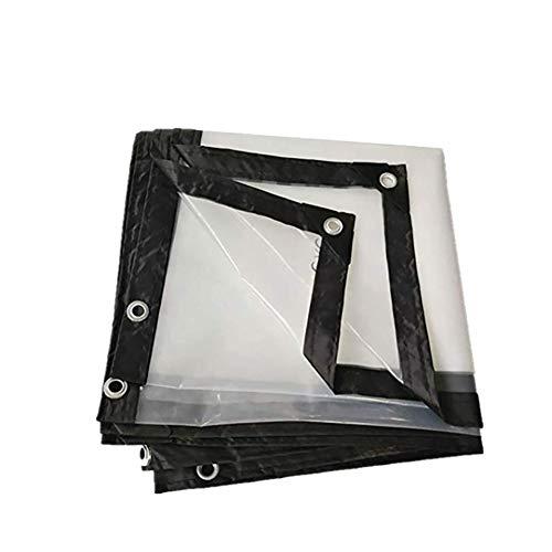 Baiken dekzeil, transparant, waterdicht, met metalen oog-plastic verdikt, bedekt tent, 22 maten, 120 g/Rain, 5 x 6 m